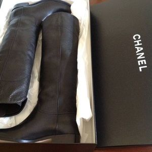 NEW CHANEL LEATHER BOOTS